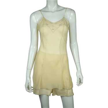 Vintage 1930s Chemise & Step In Panties Set Embroi