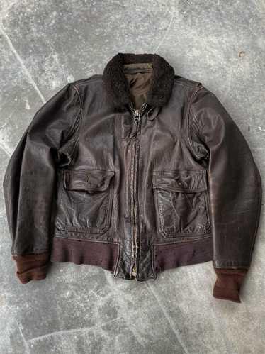 Leather Jacket × Military × Vintage Vintage 60's T