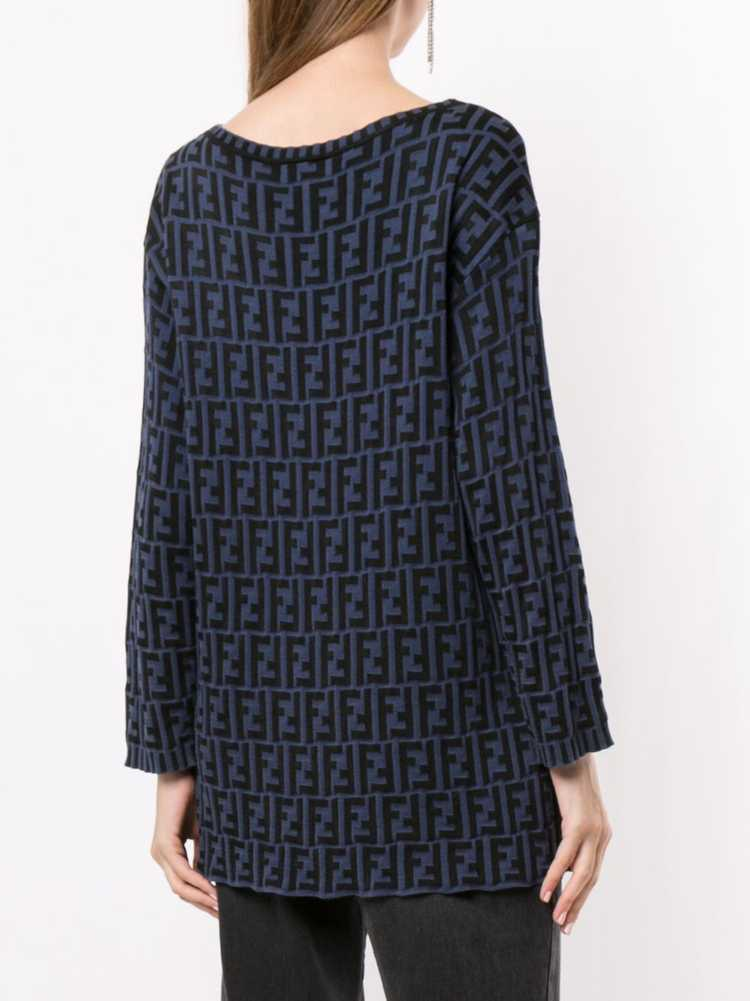 Fendi Pre-Owned Zucca pattern knitted top - Black - image 4