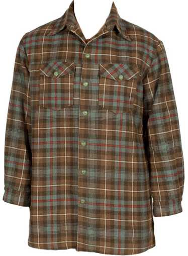 1950s Wool Flannel Shirt Jacket