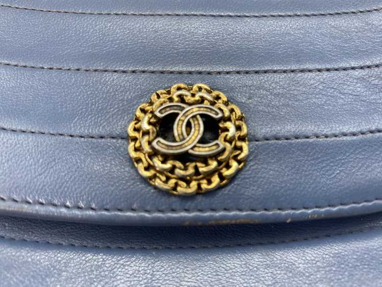 Chanel Blue Lambskin Flap Bag - image 5
