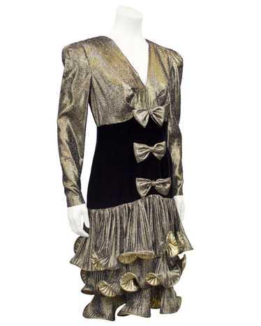 Gold Lamé Cocktail Dress