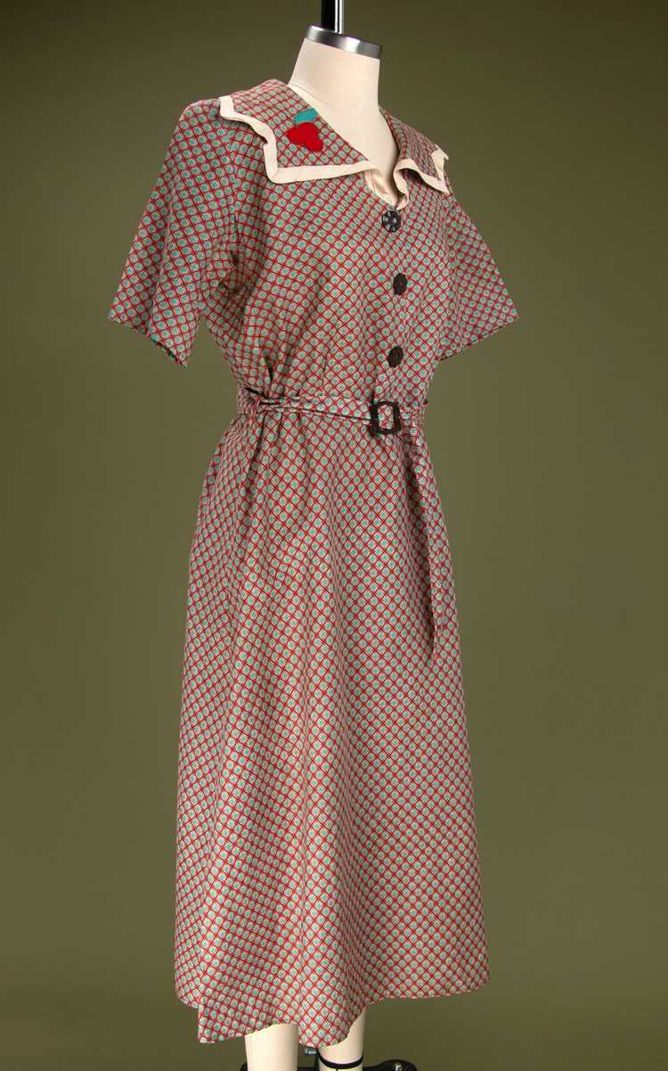 Vintage 1930's - Early 1940's Cotton Dress - image 6