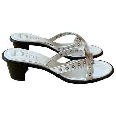 Christian Dior White Leather Mules & Clogs for Wom