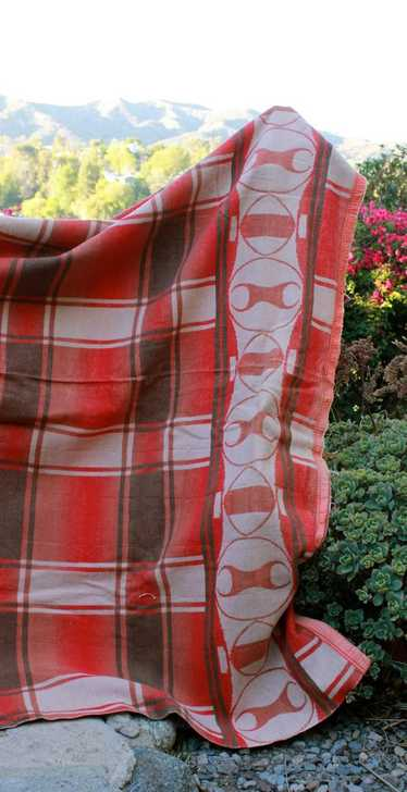 Vintage 1940s Beacon Camp Blanket Indian Design