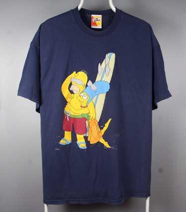 Vtg 1998 The Simpsons HOMER Simpson naked under mistletoe black graphic tee men/'s M as medium