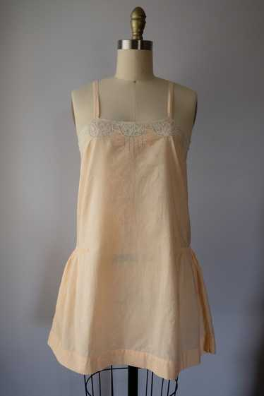 1920s Peach Cotton Step-In Lingerie