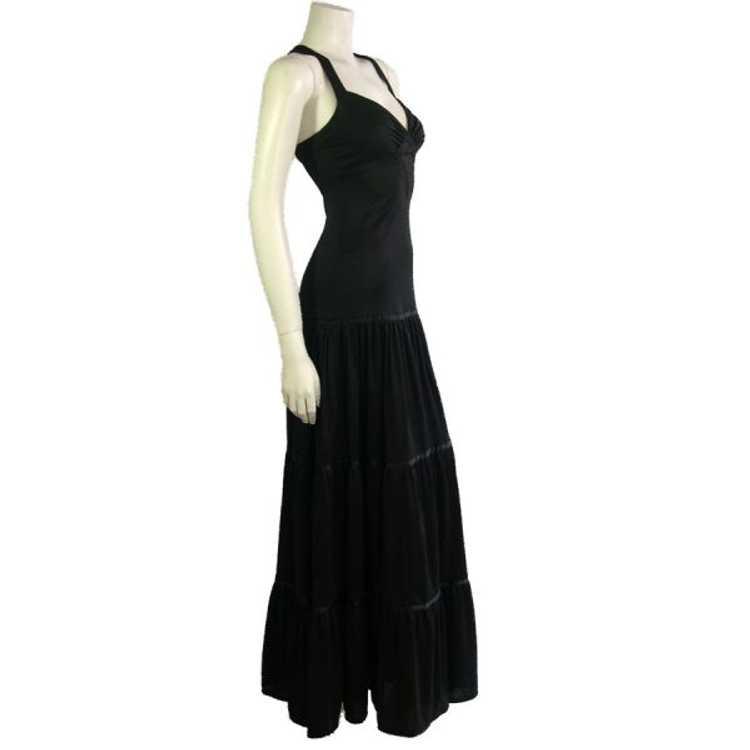 Vintage Black Radley Dress 1970s - image 2