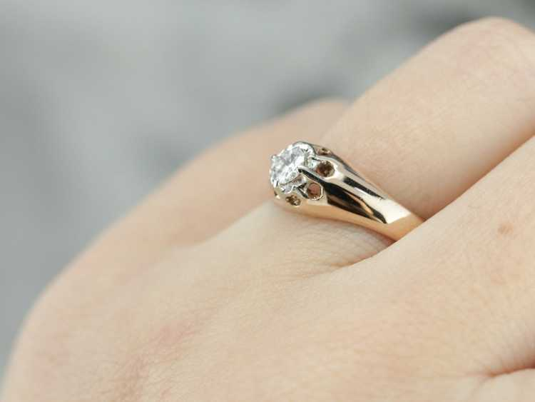 Diamond Solitaire Ring - image 5
