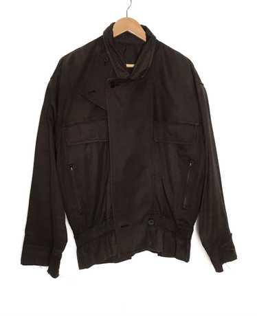 80s black futuristic avant garde batwing bomber jacket
