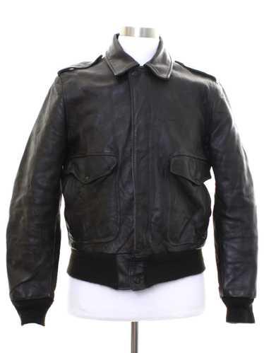 1970's Flight Jacket Mens Bomber Leather Flight Ja