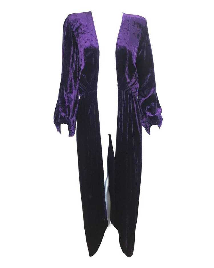 Yves Saint Laurent 1970s Velvet Gown - image 6