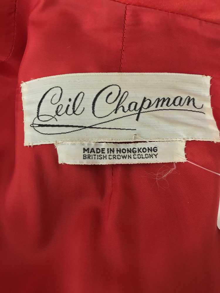 Vintage Ceil Chapman Red Satin and Metallic Broca… - image 13