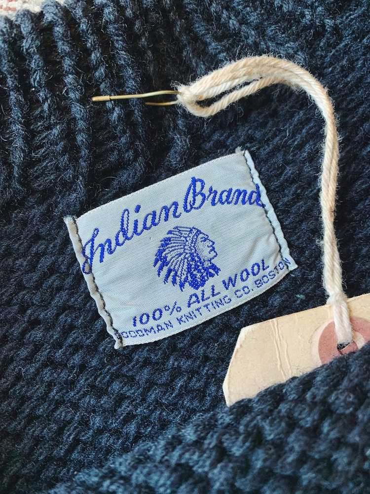 Vintage Indian Brand Varsity Sweater - Size Small - image 3