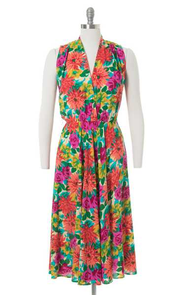 1990s Floral Rayon Sundress | small/medium