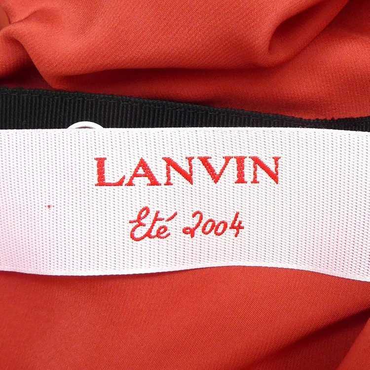 Lanvin Silk skirt with ruffles - image 5