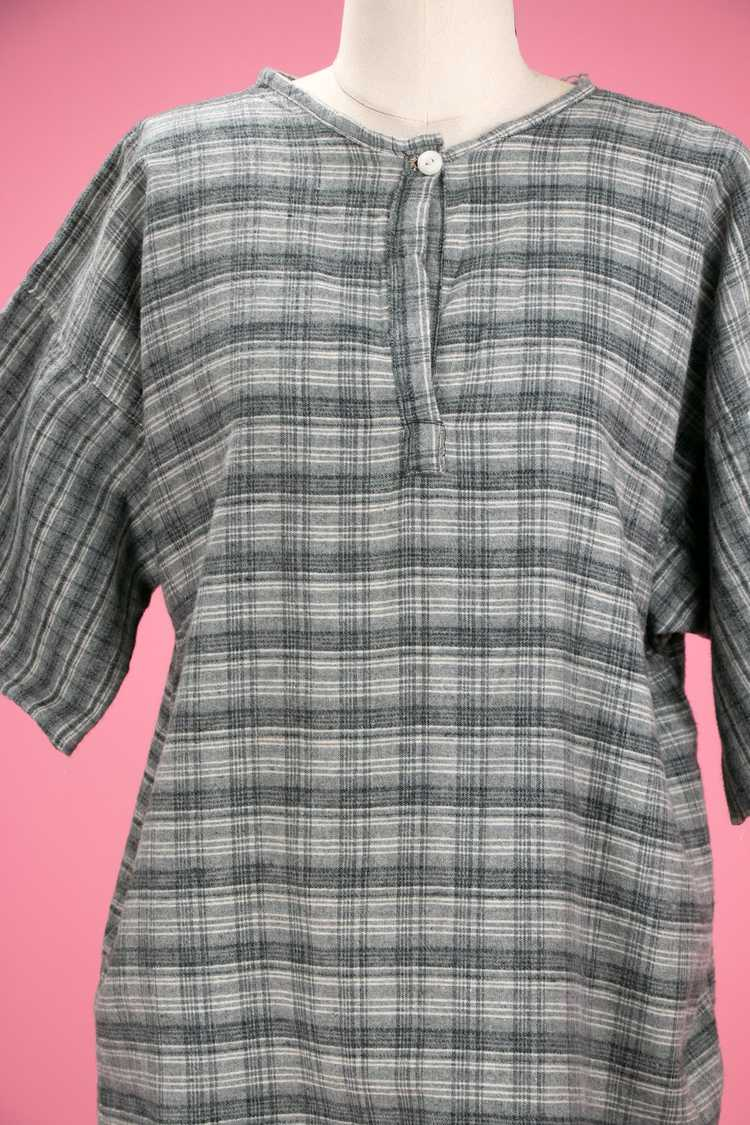 Antique / Early Vintage 1910's - 20's Grey Flanne… - image 4