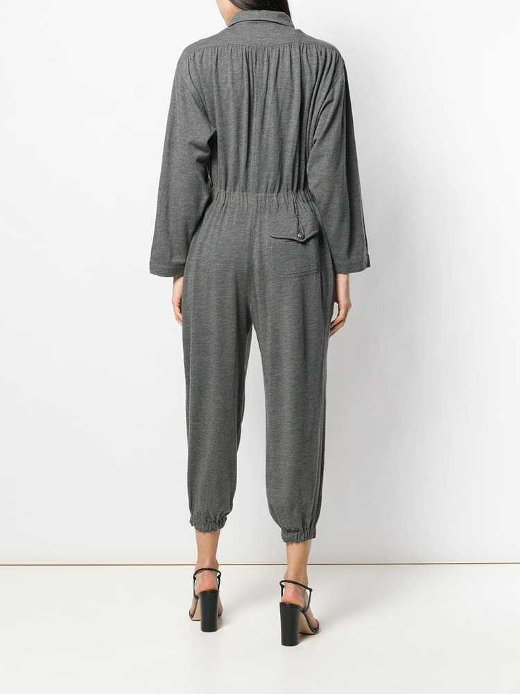 Moschino Pre-Owned 1990's utility jumpsuit - Grey - image 4