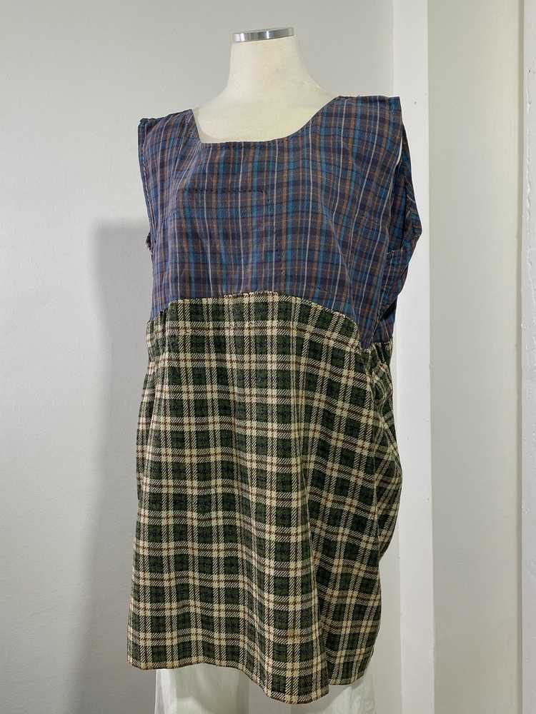 1960s-70s French Patchwork Peasant Dress - Lg. - image 7