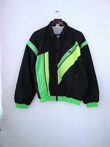 vintage ELLESSE Track Jacket women/'s Size L authentic green blue retro rave 90/'s polyester classic sport windbreaker streetwear clothing