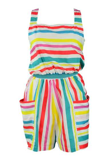 Multicolor Candy Stripe Romper