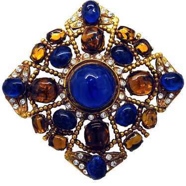 Authentic Chanel Gripoix Glass Brooch/Pendant - 19
