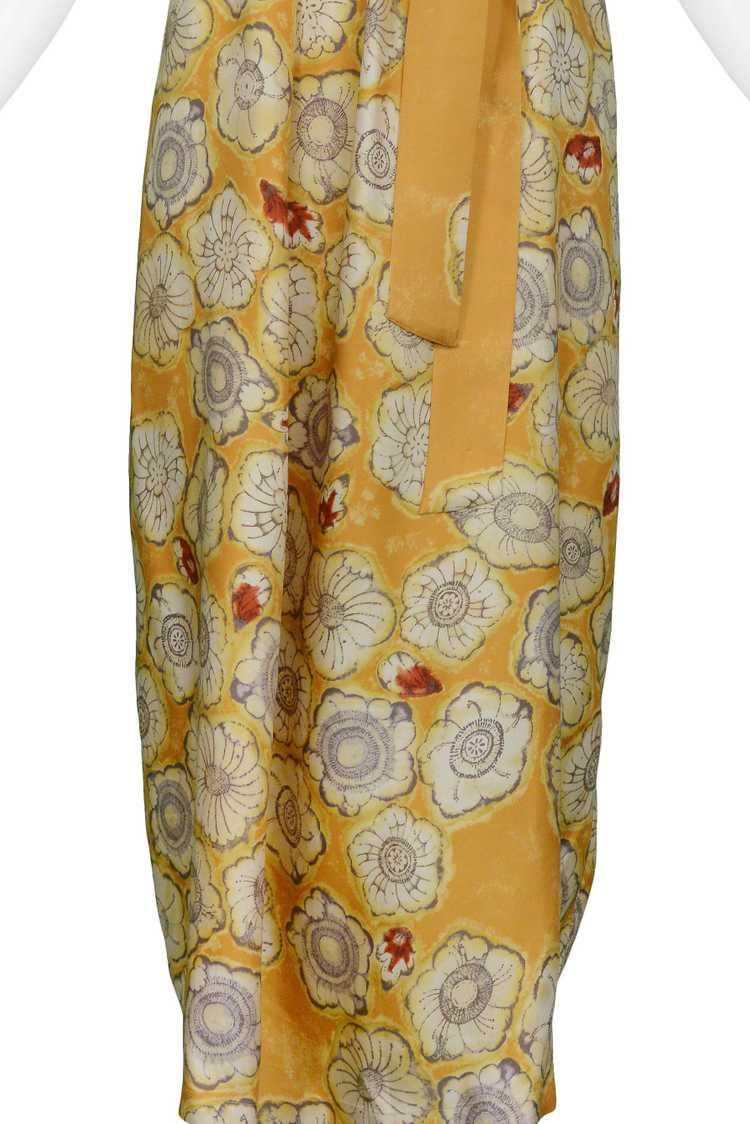 DRIES YELLOW GOLD FLORAL SLIP DRESS & SASH - image 5