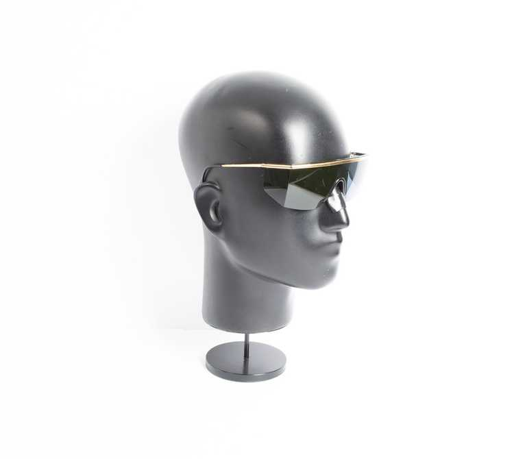 Versace GIANNI VERSACE shield black sunglasses - image 3