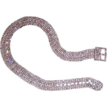 Clear Rhinestone Belt
