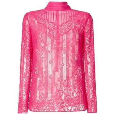 Valentino Pink Lace Blouse