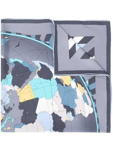 Cartier world map print scarf - Grey
