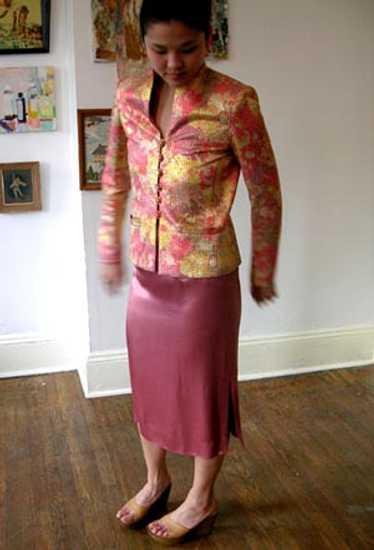 Jayna trapunto dress set