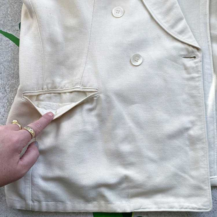 Late 30s Early 40s Palm Beach Linen double breast… - image 7