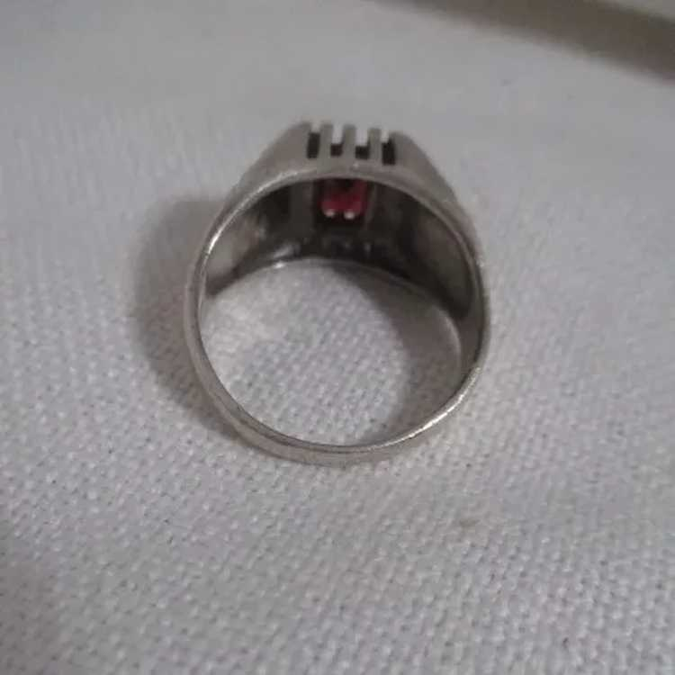 Sterling Silver Ring with Ruby - image 3
