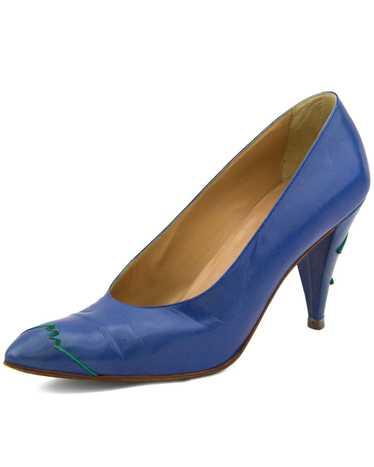 Maud Frizon Blue Leather Pumps