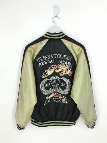 Japanese Dragon Fighting Eagles Overprint Jacket Medium Vintage 80s Sukajan Dragon Japan Zipper Jacket Size M
