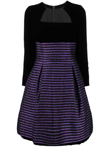 Christian Dior pre-owned striped flared dress - Bl