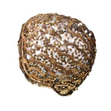 1930's Skull Cap Sequined Vintage - image 1