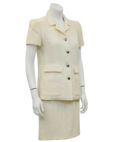 Chanel Cream Short Sleeve Suit