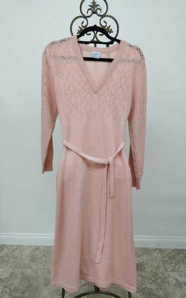 Vintage Joni Blair Peach Sweater Dress