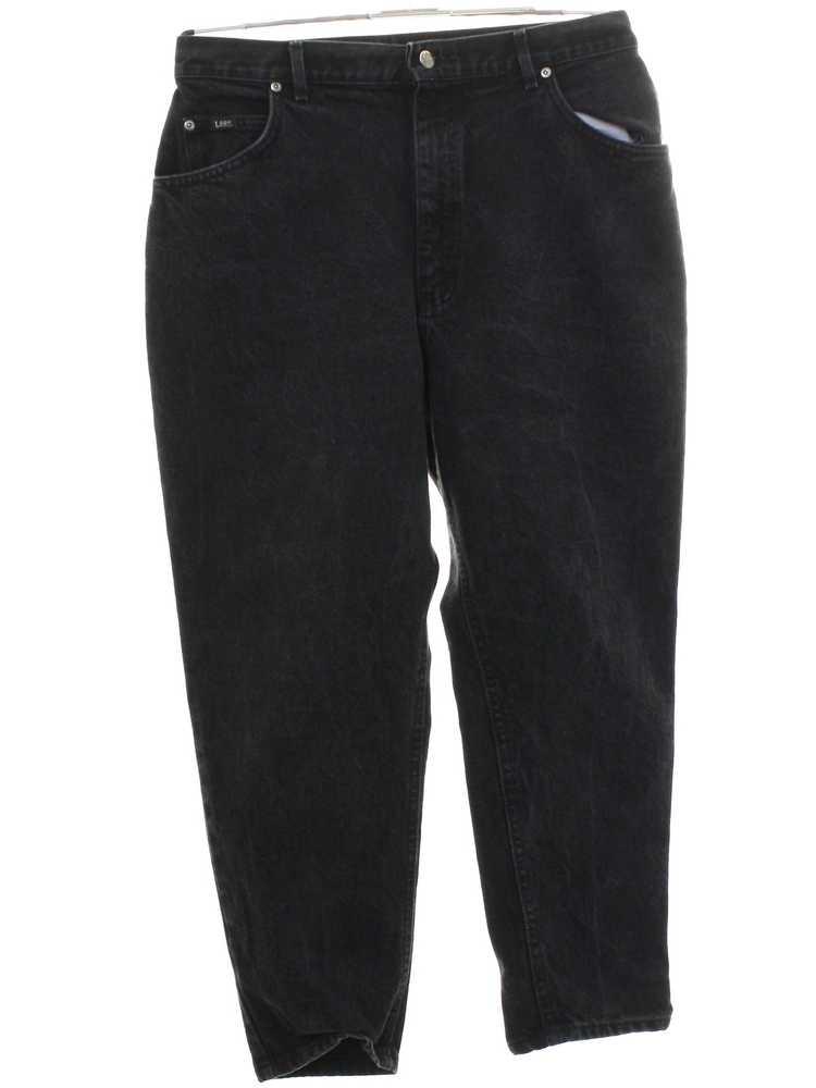 1980's Lee Womens Lee Highwaisted Denim Jeans Pan… - image 3