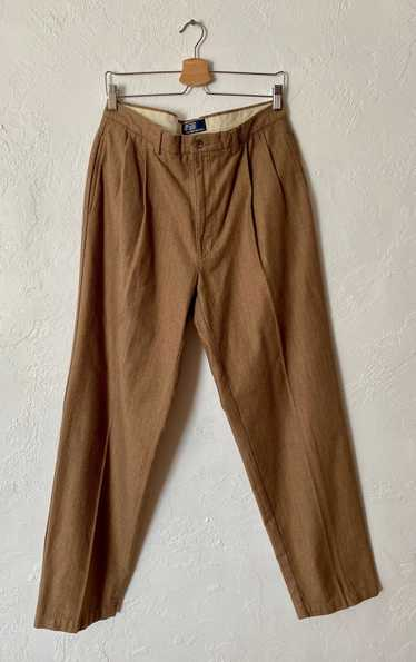 1980s 90s Polo by Ralph Lauren Tan and Brown Herr… - image 1
