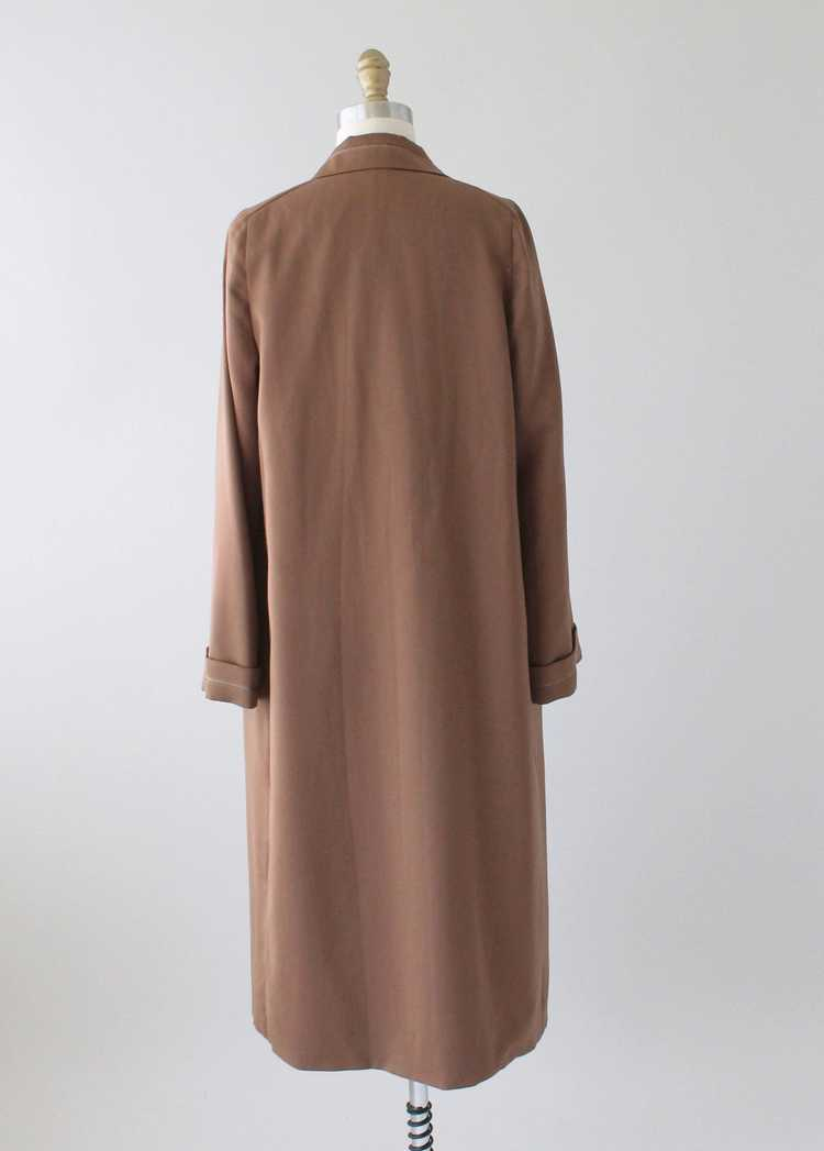 Vintage 1920s Brown Silk Day Dress with Duster Co… - image 12
