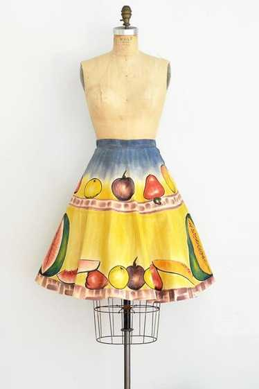 Rare Hand Painted Fruit Skirt