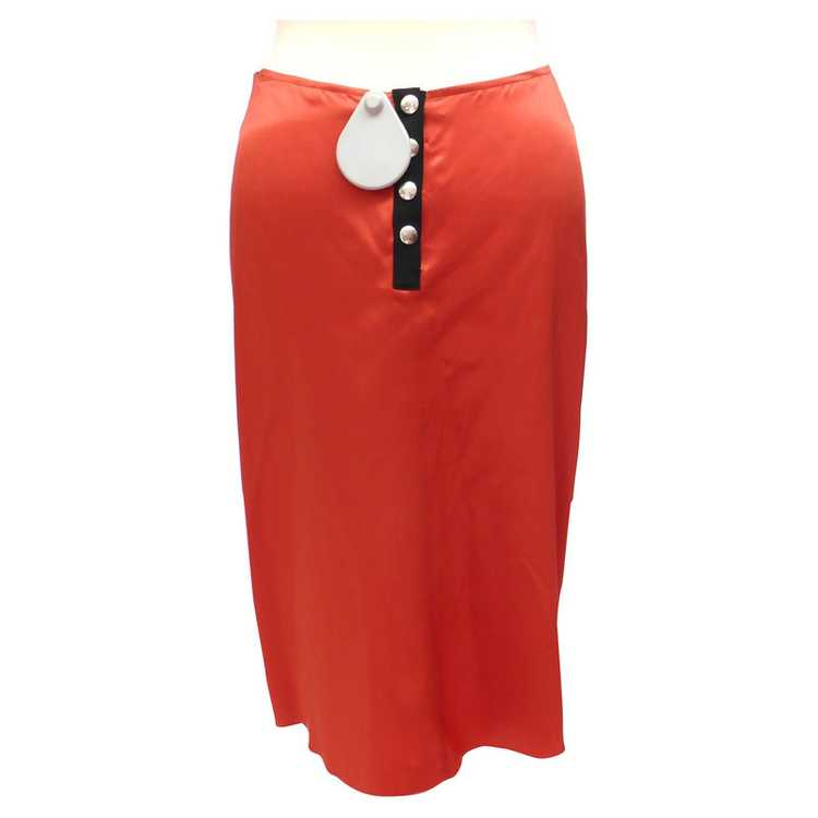 Lanvin Silk skirt with ruffles - image 3