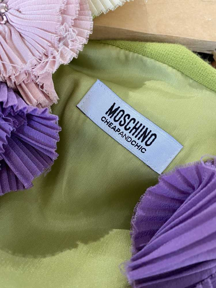 Vintage Moschino Chartreuse Dress - image 6
