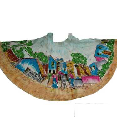 Vintage Mexican Hand-painted full circle Skirt 195