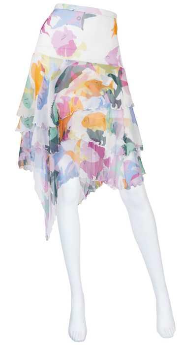 Moschino 2000s Fish Print Silk Chiffon Handkerchie