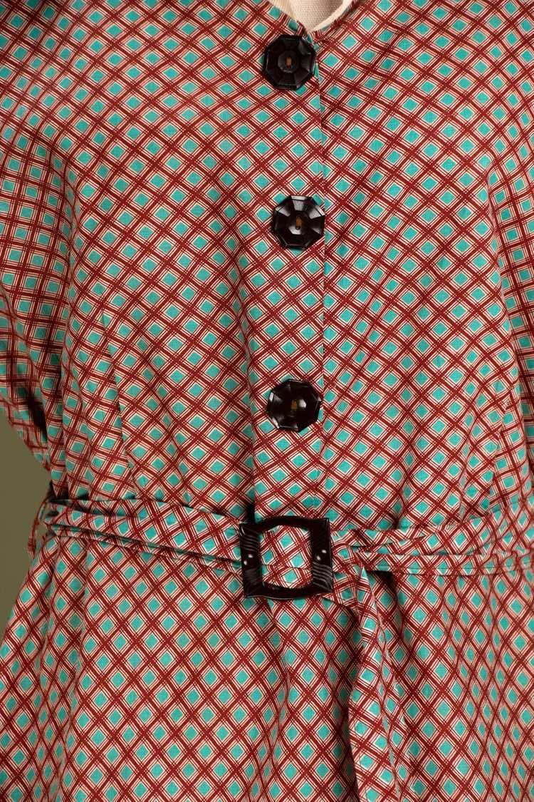 Vintage 1930's - Early 1940's Cotton Dress - image 4