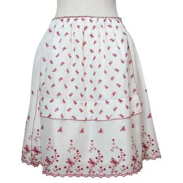 Miu Miu Skirt Cotton in White